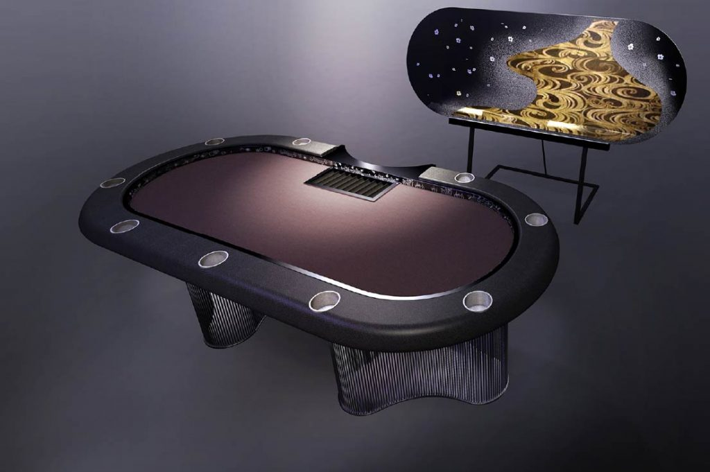 Gold Poker Table
