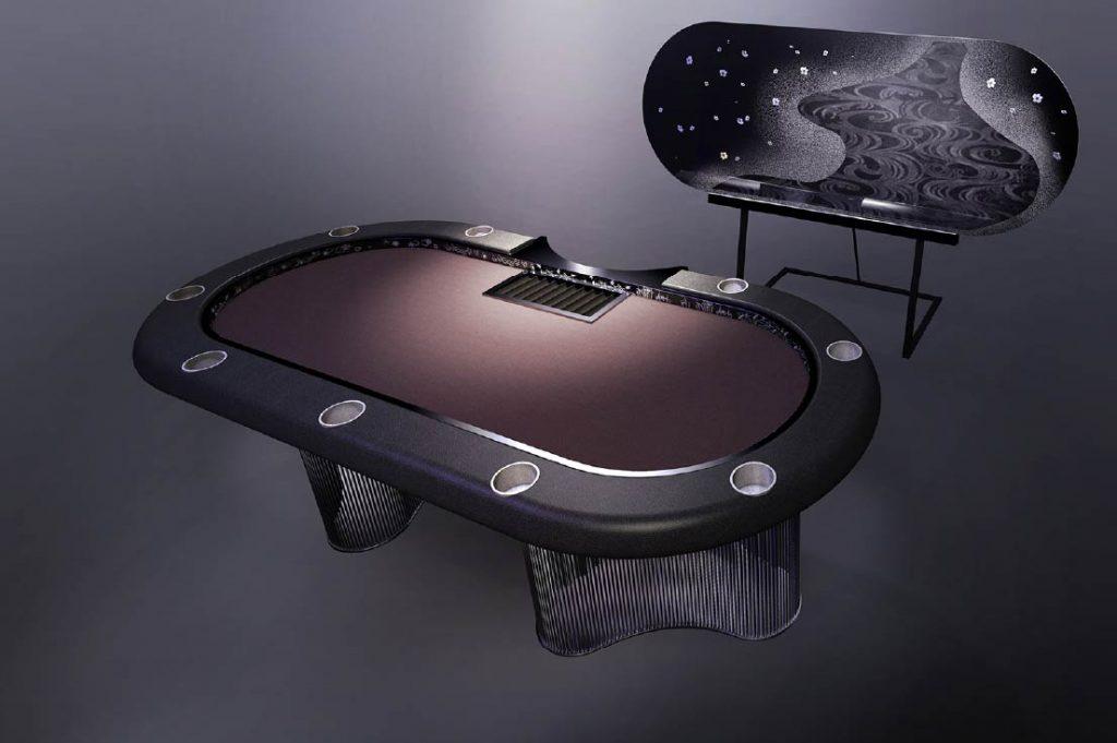 Black Poker Table